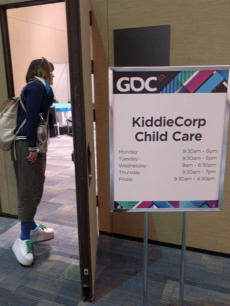 OTHER CONFERENCES TAKE NOTE: all day child care available at #GDC16 https://t.co/DCSOspWnpp