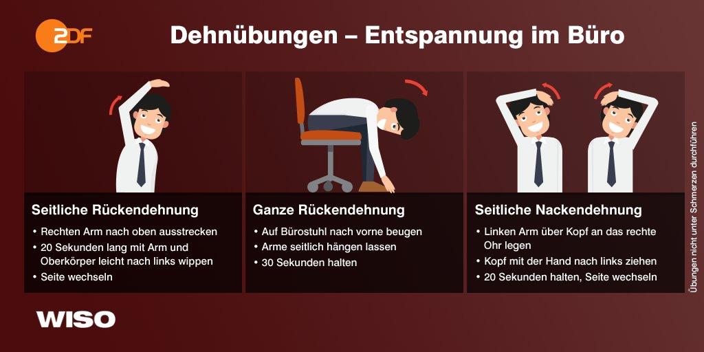 Erst Dienstag und schon wieder Rückenschmerzen? Kurze Dehnübungen und regelmäßige Bewegung können helfen #WISO https://t.co/Q1pbBj6s8w