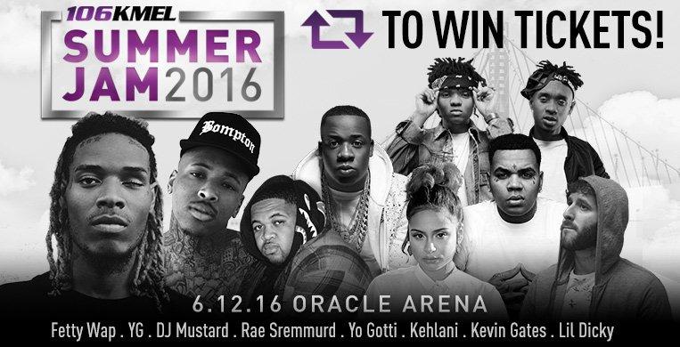 Win tickets to see @FettyWap @YG #Kehlani &MORE! Follow, RT, & REPLY w/ who ur gna bring! Use #KMELSummerJam to win! https://t.co/yYhmCUSgRn