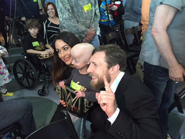Are the kids enjoying @WWEDanielBryan & Brie @BellaTwins visit to @ChildrensPgh today? YES! YES! YES! @WWECommunity https://t.co/f9PXESz5NM
