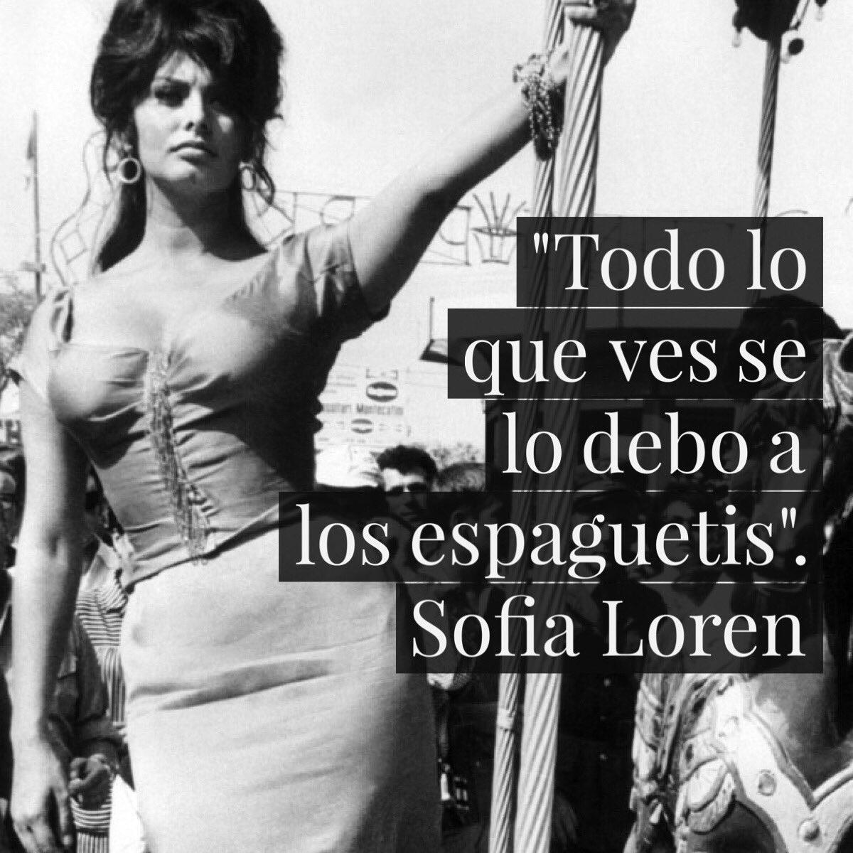 Resultado de imagen de frases de Sofía Loren