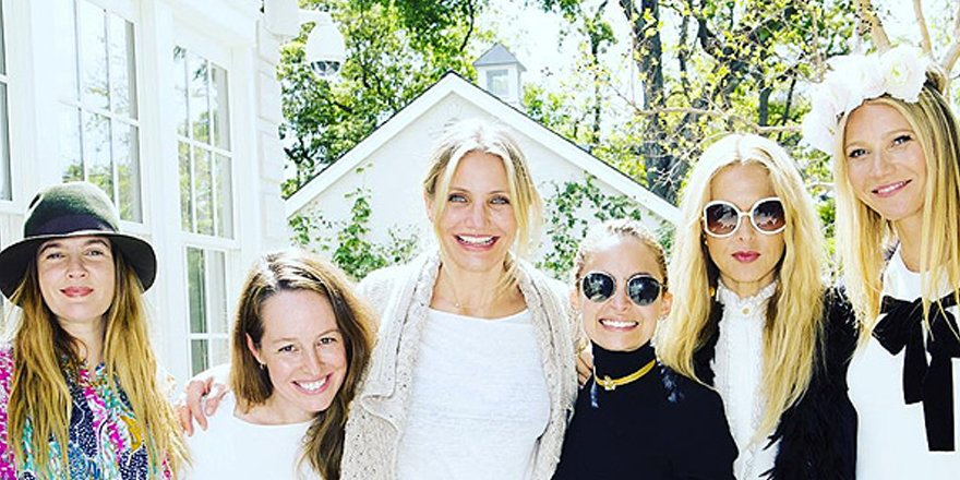 Gwyneth Paltrow celebrates @goop skincare with Reese Witherspoon, Cameron Diaz and more