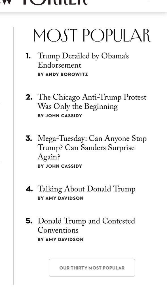I wonder what @NewYorker readers are thinking about: https://t.co/Yj7EG0mCjo