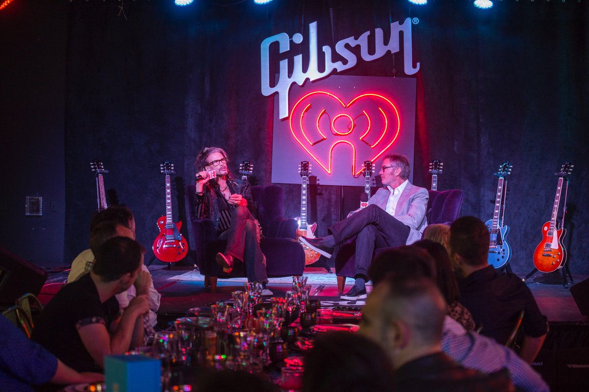Rock icon @IamStevenT during his chat with iHeartMedia's Bob Pittman last night at our #SXSW VIP event. #iHeartSXSW https://t.co/mhgeFaSeZ0