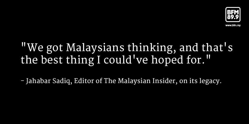 """""""Goodbye readers from near and far..."""" - @jsadiq, Editor of The Malaysian Insider https://t.co/HEoma2SmBm https://t.co/jN1kUEuYNY"""