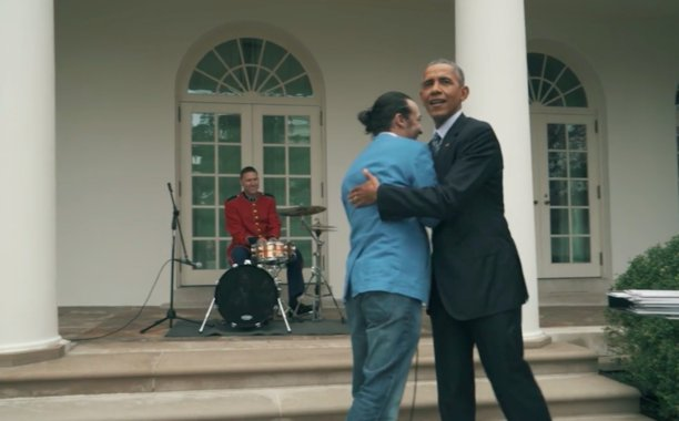 .@Lin_Manuel's freestyle rap wows Barack Obama at the White House: 👏