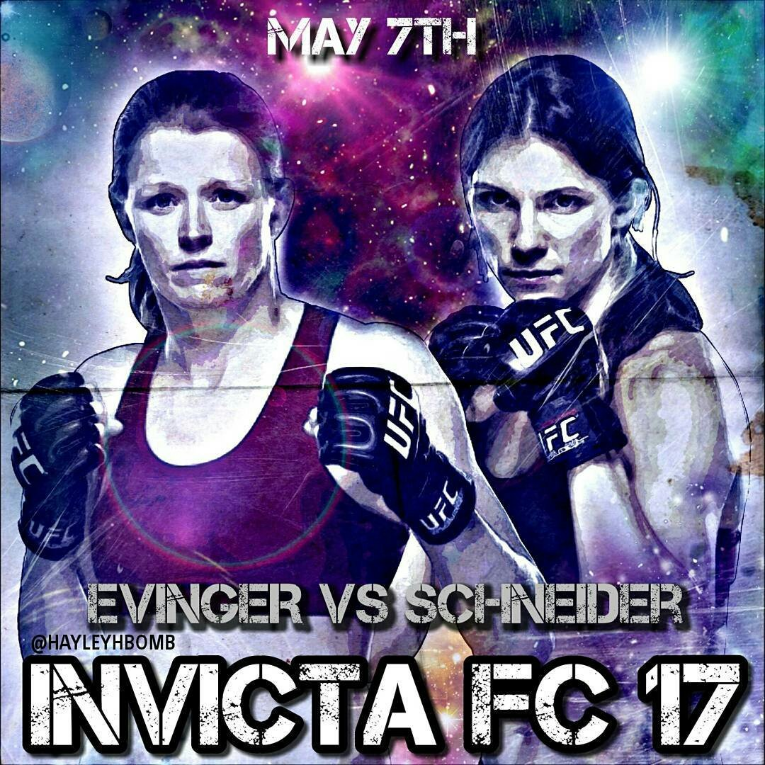 Tonya Evinger defends her title against Colleen Schneider on May 7th at Invicta FC17... Oh yeah! @InvictaFights