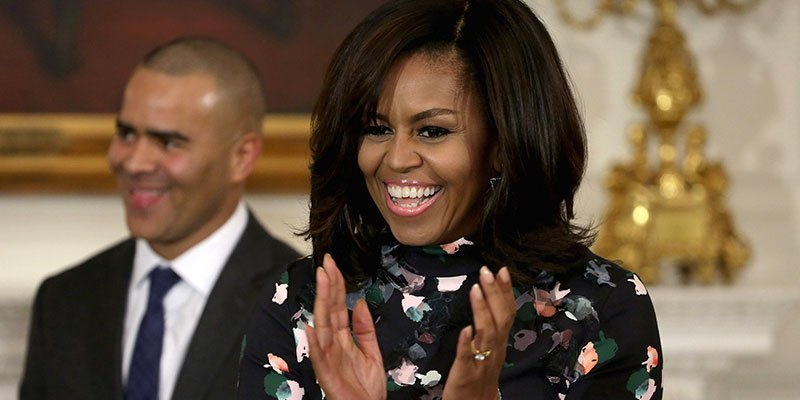 Michelle Obama welcomes Hamilton to White House, says it's a