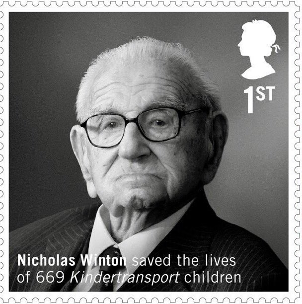 Wonderful photograph of Sir Nicholas Winton chosen as a stamp to celebrate his life https://t.co/cldrrZIwCe