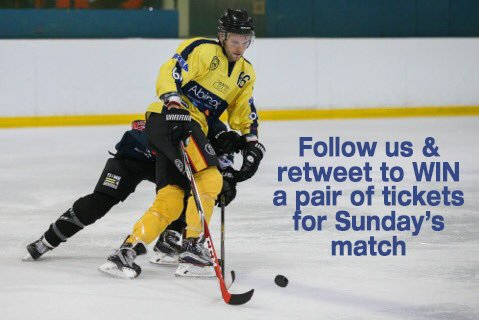 #Comp: Follow us & retweet to #win a pair of tixs to this Sunday's home game @oxfordcitystars v @BracknellHornet https://t.co/pai2ITXswj