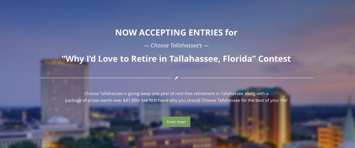 How does retiring in the sunshine state sound? Enter to win now! https://t.co/m1mMAaUAeU #LoveFL #IHeartTally https://t.co/F1qY9Wyk4w