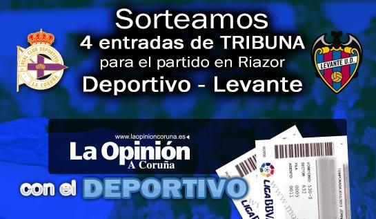 #SORTEO Si quieres ver al #DÉPOR contra el Levante sigue a @laopinioncoruna y RT este tuit https://t.co/RyiSB6rMFX https://t.co/EB1LJR3xOv