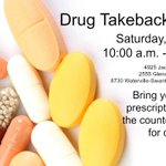 #DrugTakebackDay THIS SATURDAY, April 30th 2016!  List of other drop boxes: https://t.co/Ly4EnUcwqc https://t.co/hF8uoSKEIR