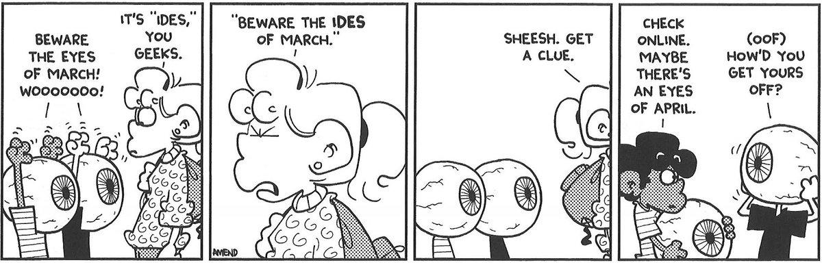 Beware The Eyes of March! Gotta love some classic #foxtrot @billamend #IdesOfMarch #eyesofmarch https://t.co/TYSsrSzj9F