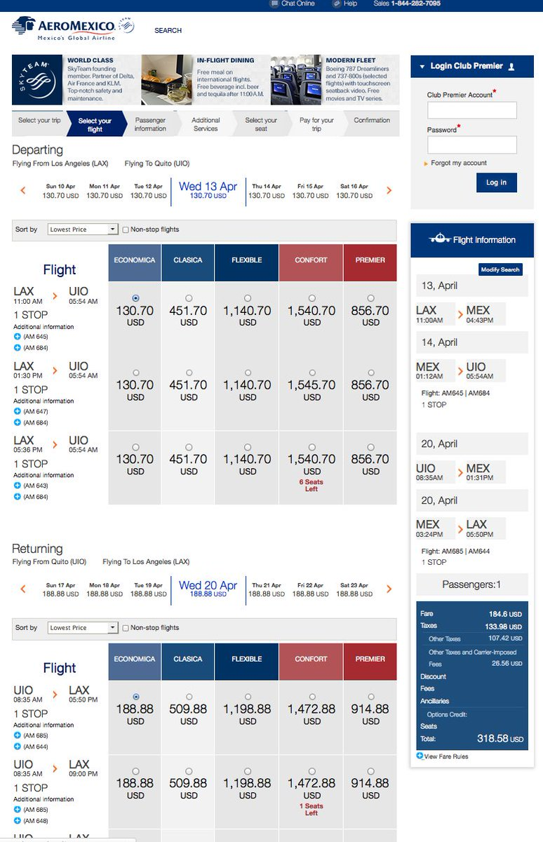 RT @airfarewatchdog: Los Angeles LAX to Quito UIO $319 round-trip for spring travel