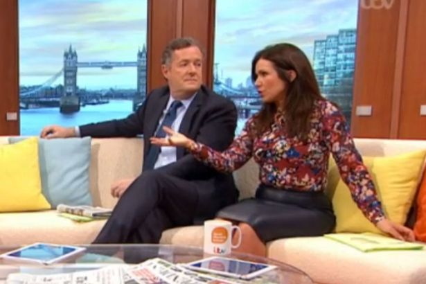 Good Morning My Angel In Russian : Susanna reid s faux leather skirt gets gmb viewers