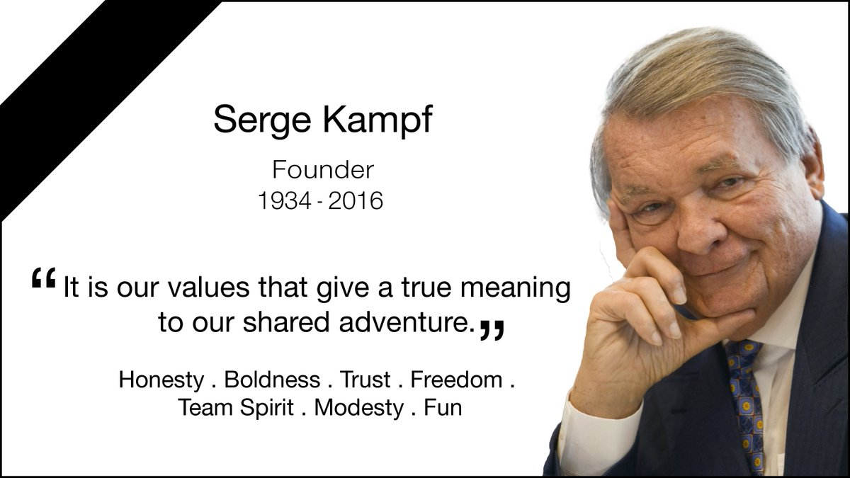 Capgemini sadly announces the passing of the Group founder Serge Kampf. https://t.co/Av4UIZ2UNc