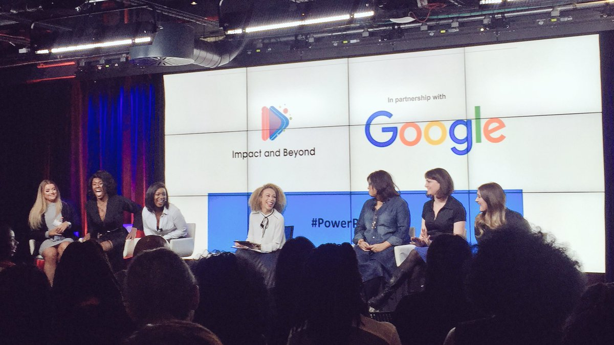 """""""Don't write the ending to your story"""" amazing panel at tonight's @impactandbeyond #powerplayers event"""