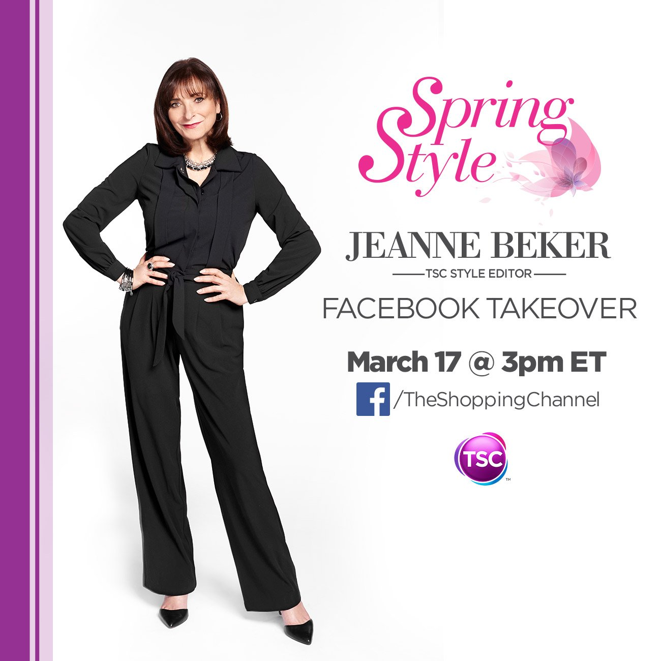 Mark your calendars! @Jeanne_Beker is taking over the @theShoppingChan #FacebookPage this Thurs at 3PM! #SpringStyle https://t.co/lme2GWt1wY