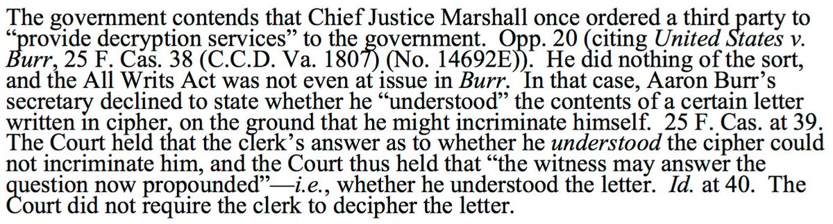 Apparently (the first) Justice Marshall did not order any phones to be unlocked: https://t.co/g2is8bwRxR