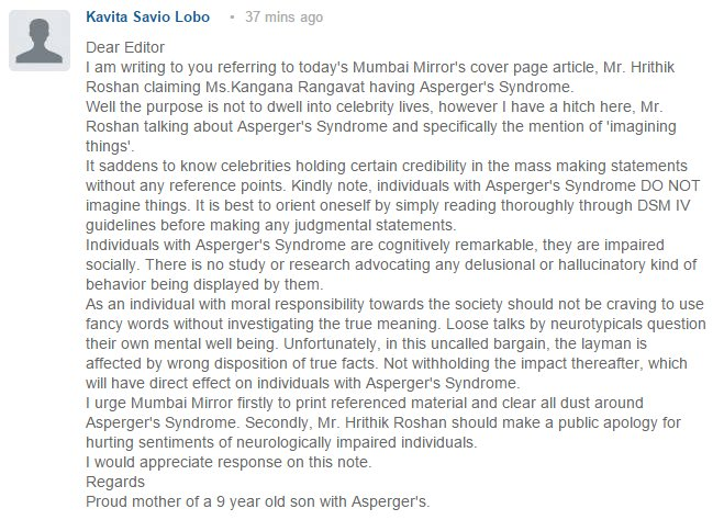 A comment on today's explosive Mumbai Mirror story on Hrithik and Kangana https://t.co/tdI3ZQXCWu Had to be said. https://t.co/75RPMzasjx
