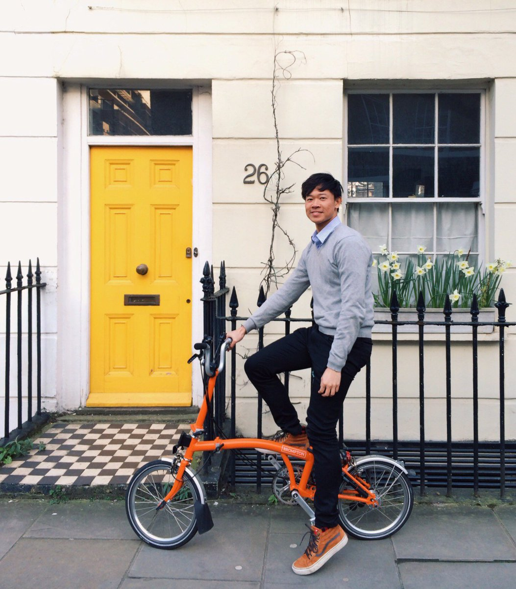 Congratulations to Ming on winning #Build&Win last year. Here's a photo of him enjoying his Orange Brompton! https://t.co/7MINp8IQQi