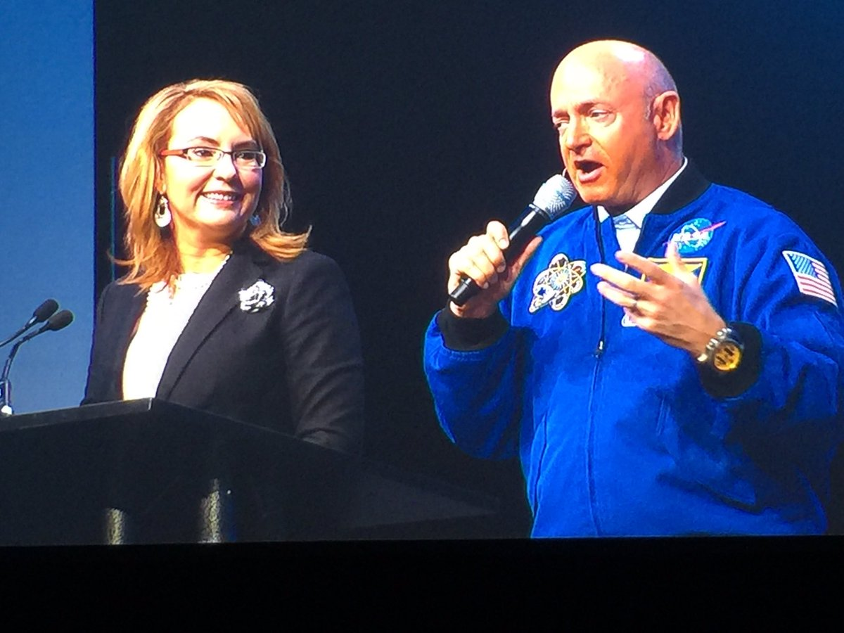 """Deny the acceptance of failure"" says @GabbyGiffords w/ husband @ShuttleCDRKelly #adpmotm https://t.co/xCtXz8x5my"