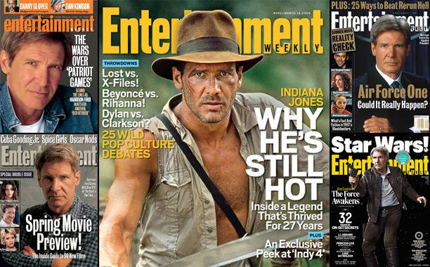 Celebrate the HUGE IndianaJones news with all of our Harrison Ford covers: