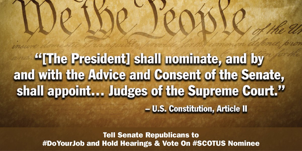 President did his job w a qualified #SCOTUS nominee. Now it's time 4 Senate to do ours. #AdviseAndConsent #DoYourJob https://t.co/6ghAYpIQws