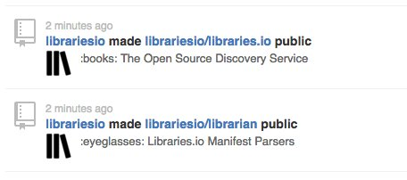 One year ago today I launched @librariesio, today I'm making it open source