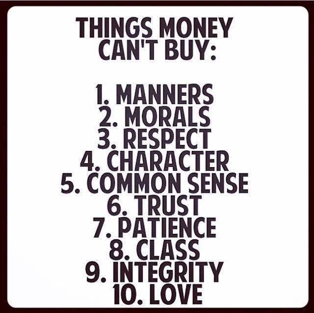 There are some things that no amount of money can buy, when you have these things you are rich https://t.co/ywFLNlJLnW