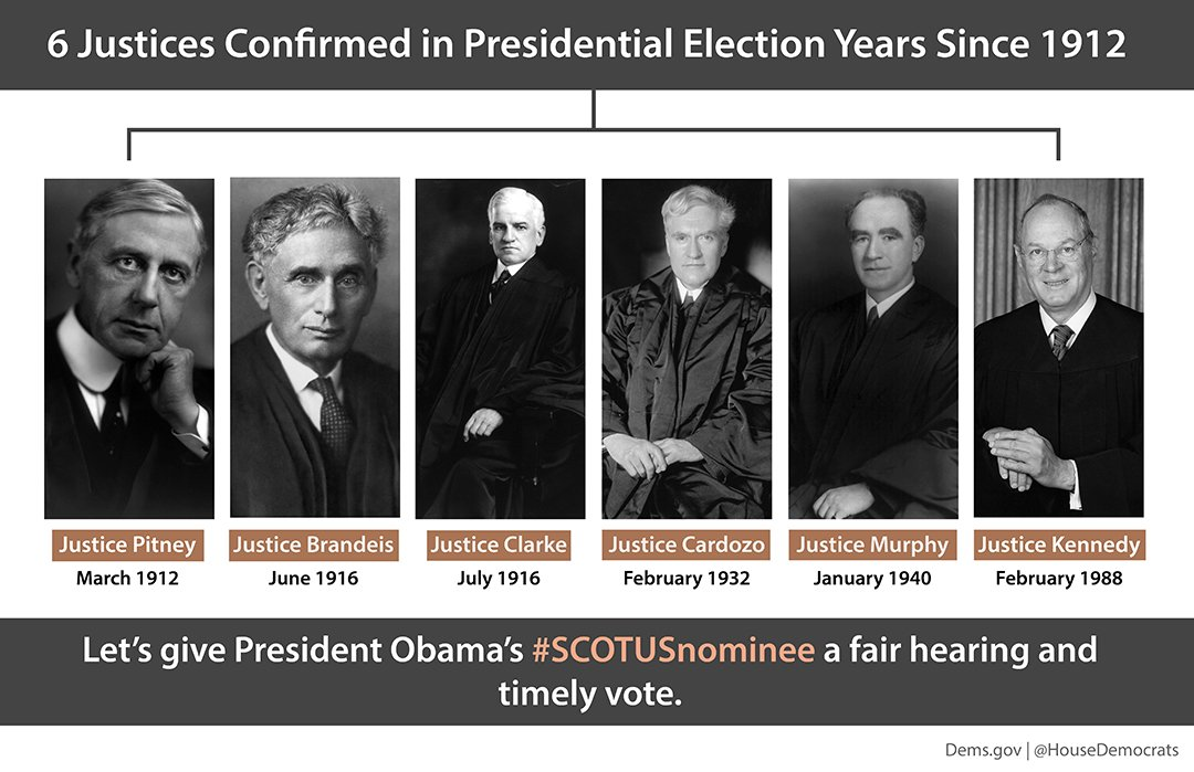 Since 1912, 6 justices have been confirmed in a presidential election year → https://t.co/IU1Kef2tux #SCOTUSnominee https://t.co/Jt9LDnsR4U