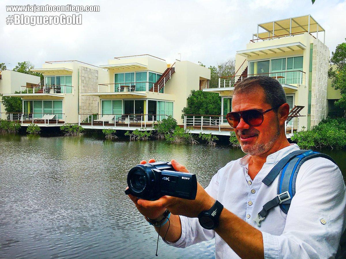 Rodando el #BlogueroGold en @RivieraMaya con la AXP33 de Sony Exelente Cámara !! @SonyEspana  #bluebaytrips https://t.co/jXTHRwaZ25