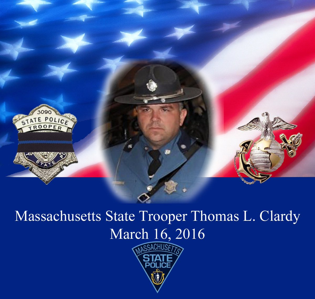 We are deeply saddened at the loss of Tpr Tom Clardy. May he rest in peace. Please pray for his family. #LODD https://t.co/wLxkt50JvY