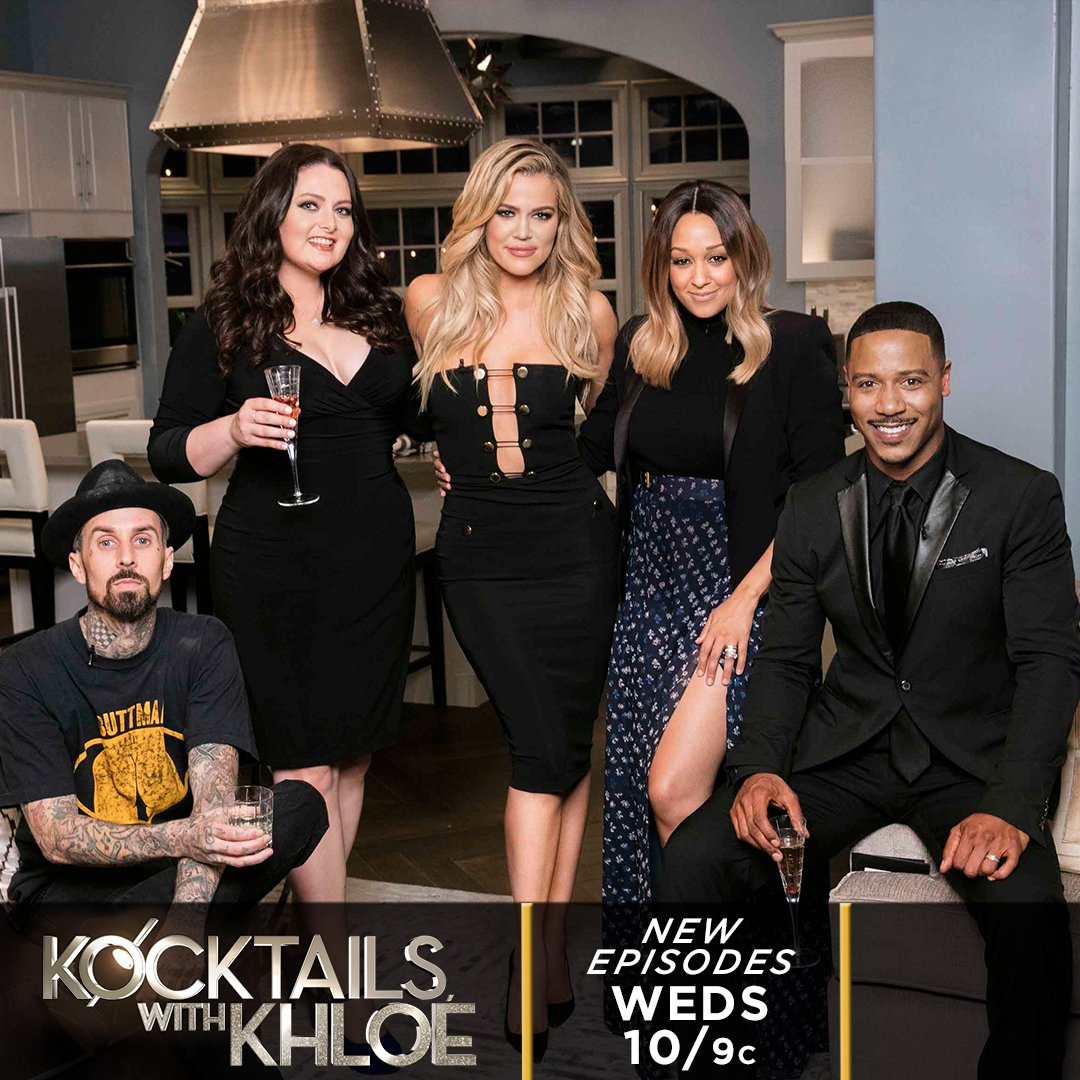 10 mins east coast! #kocktailswithkhloe Say hi to my guests @travisbarker @lauren_ash @TiaMowry @actorbrianwhite!! https://t.co/1eFv5JmUDx