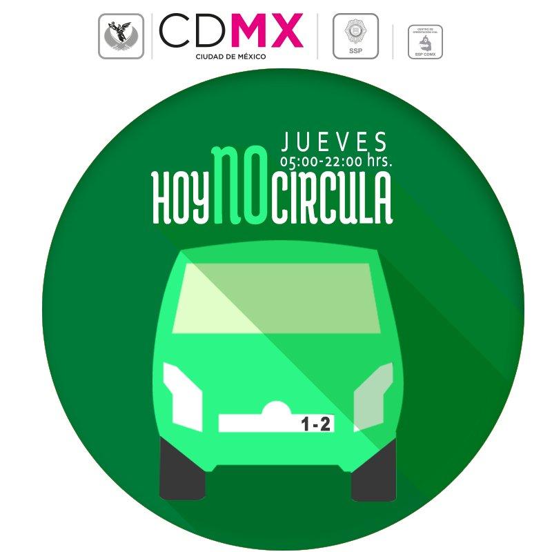Por #ContingenciaAmbiental mañana no circulan autos con engomado verde terminación 1 y 2 y hologramas 0, 00, 1 y 2 https://t.co/3OnsQ4O9du