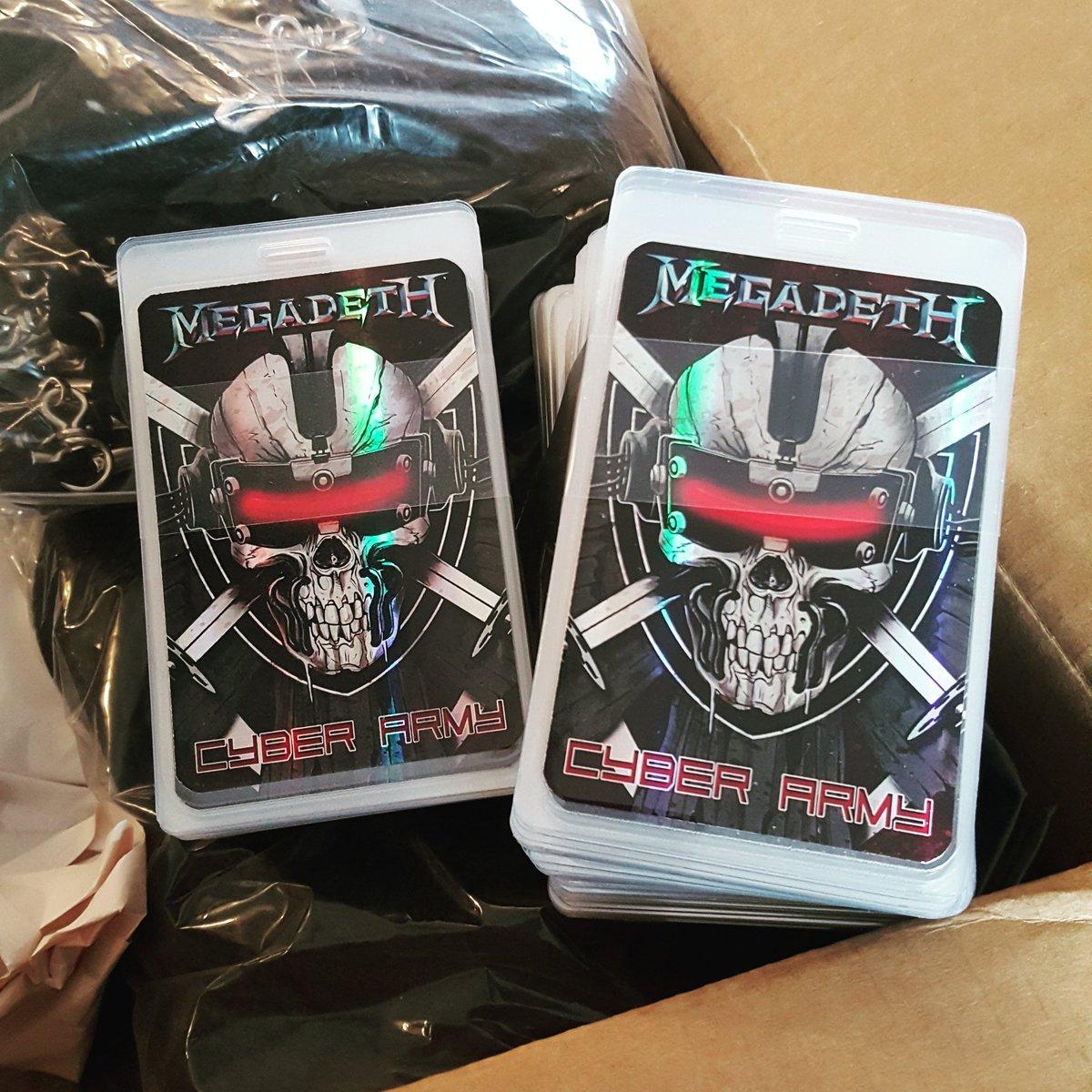 #Megadeth Cyber Army Laminates