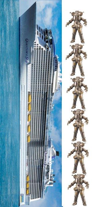 先ほどの「Quantum of the Seasはドラえもん348匹」というたとえが分かりにくかったので単位を神戸港に沈んだキングジョーにしてみました https://t.co/izqNWaI4GM
