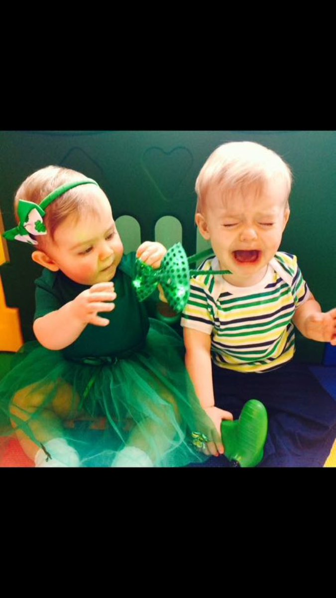 @HonestMummy Happy #StPatricksDay love from my twins and I