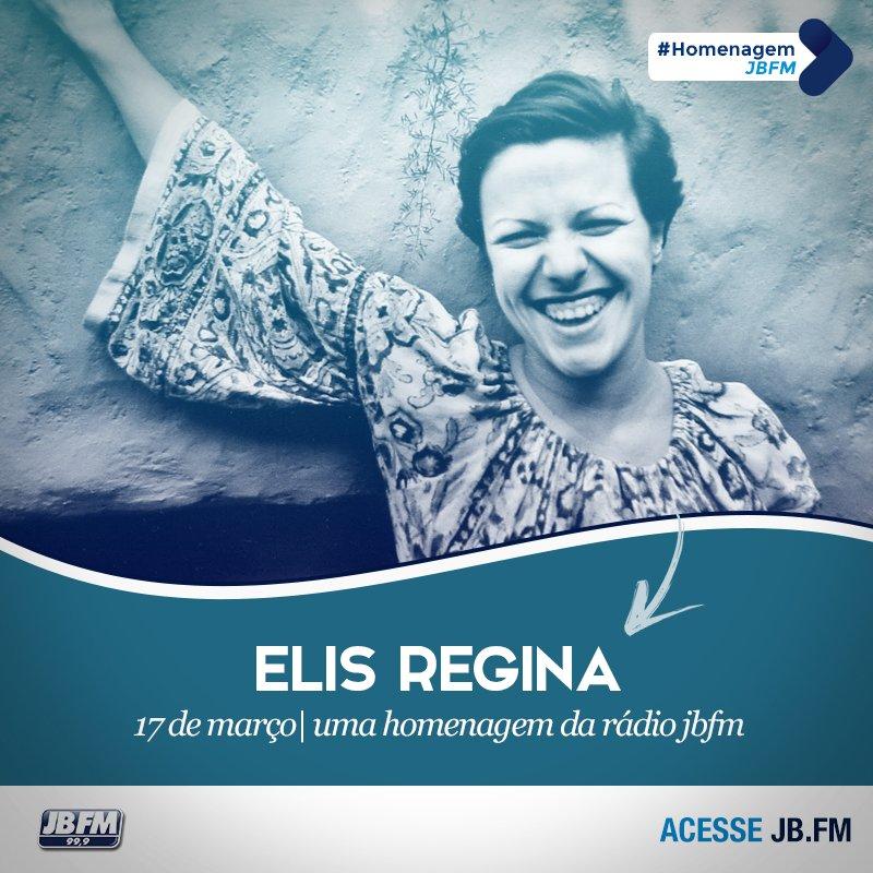 A cantora Elis Regina estaria completando hoje 71 anos.  Uma homenagem JBFM. https://t.co/8fZgjGwVsi