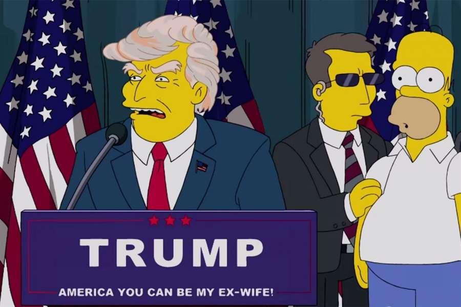 """#LosSimpson """"advirtió"""" a EEUU sobre la carrera presidencial de Donald Trump ¡¡hace 16 años!! https://t.co/9ffEK0CNcY https://t.co/MJsASBxWdY"""