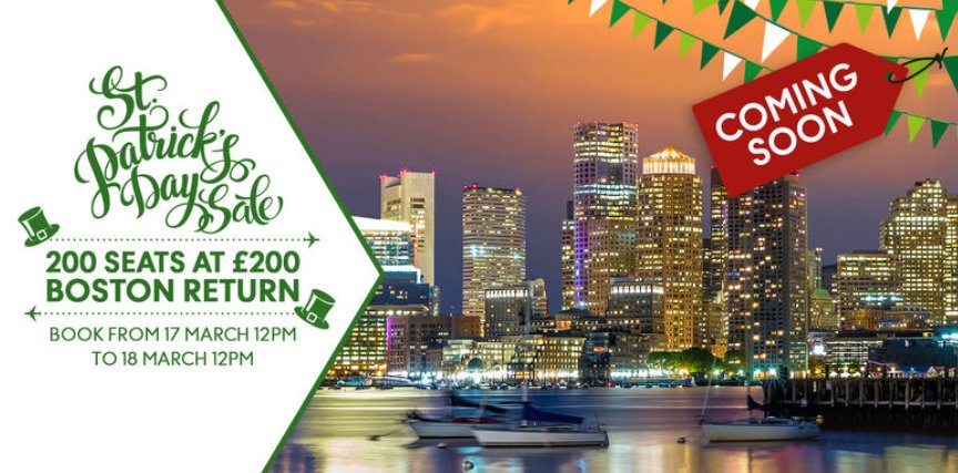 Keep calm & get your booking fingers ready for @TCairlinesUK St Patrick's Day SALE!