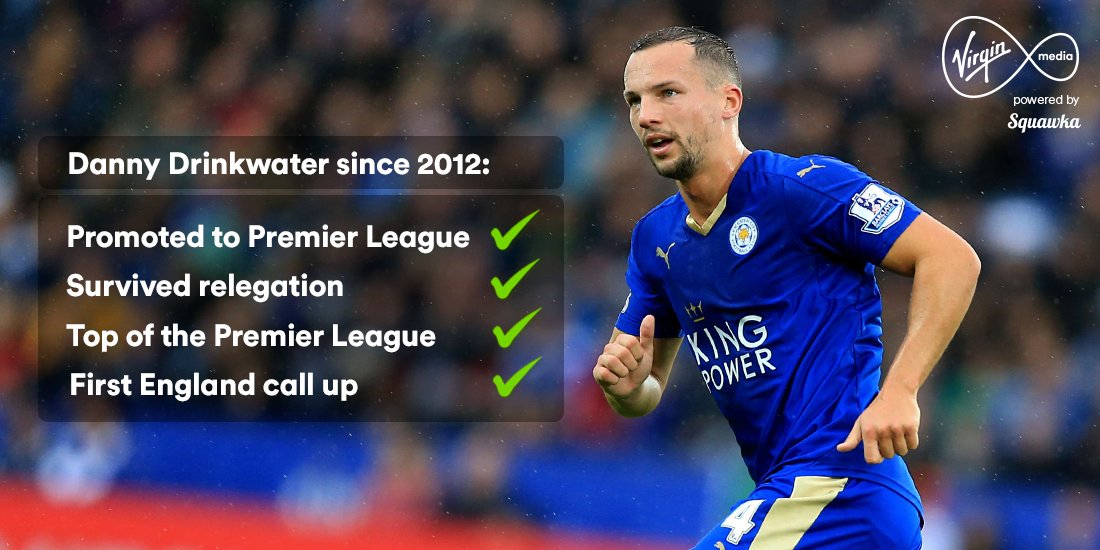 Danny Drinkwater; from Championship football to the England squad in four years. #AllTheFootball https://t.co/UxP3ErGRSy