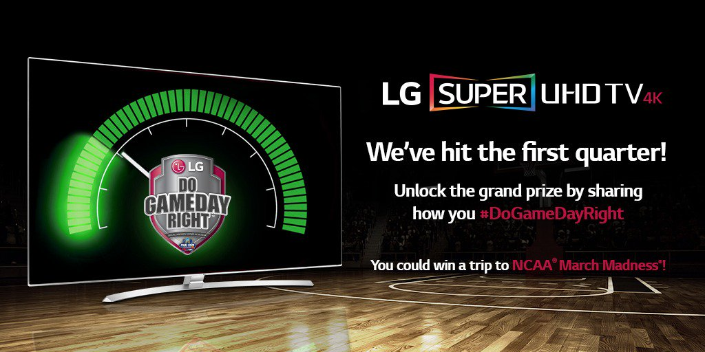 Keep it up! Retweet and tell us how you #DoGameDayRight and you could win a trip to the Final Four®! @marchmadness https://t.co/Wf8tdRiiYm