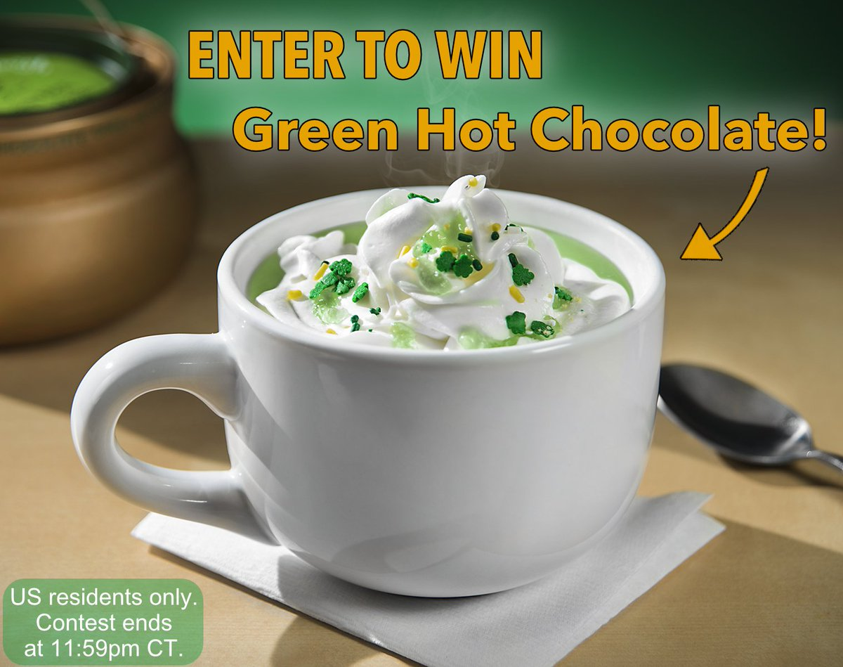 Happy #StPatricksDay from Vat19! Like and RT this post for a chance to win a pot of Green Hot Chocolate! https://t.co/lRDt1CC2Kv