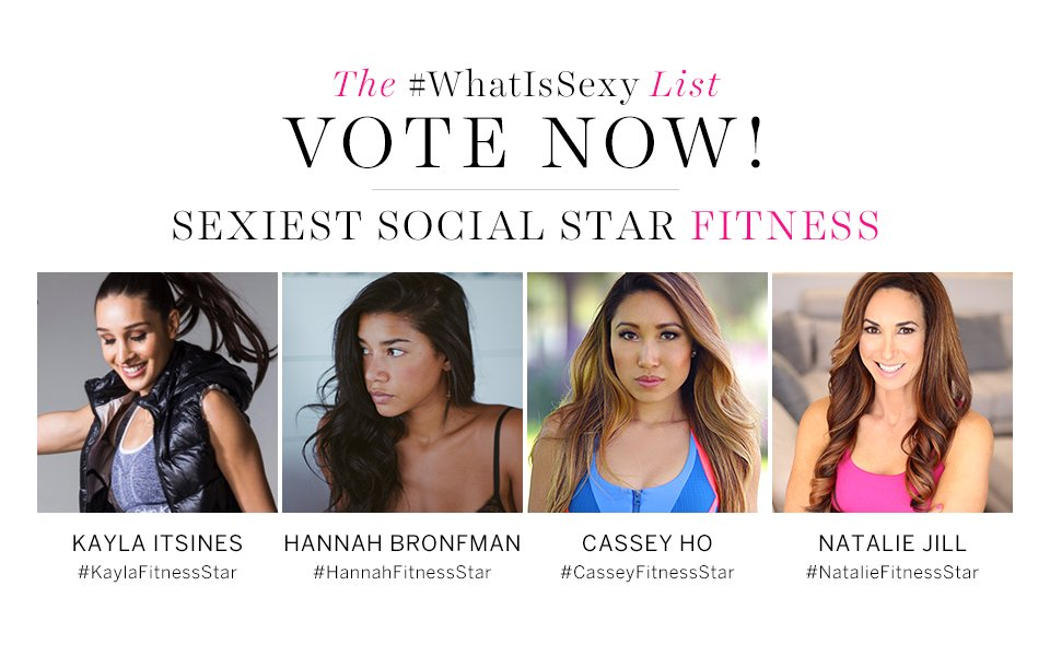 Who's the Sexiest Fitness Star? Vote now in our #WhatIsSexy List: https://t.co/SCiUevsqmH https://t.co/66p86aVgqP