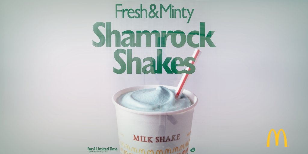 Did you know? The Shamrock Shake was first sold nationwide in 1970.  https://t.co/7F4ES7W55R #tbt #StPatricksDay https://t.co/oBPmqTSat3