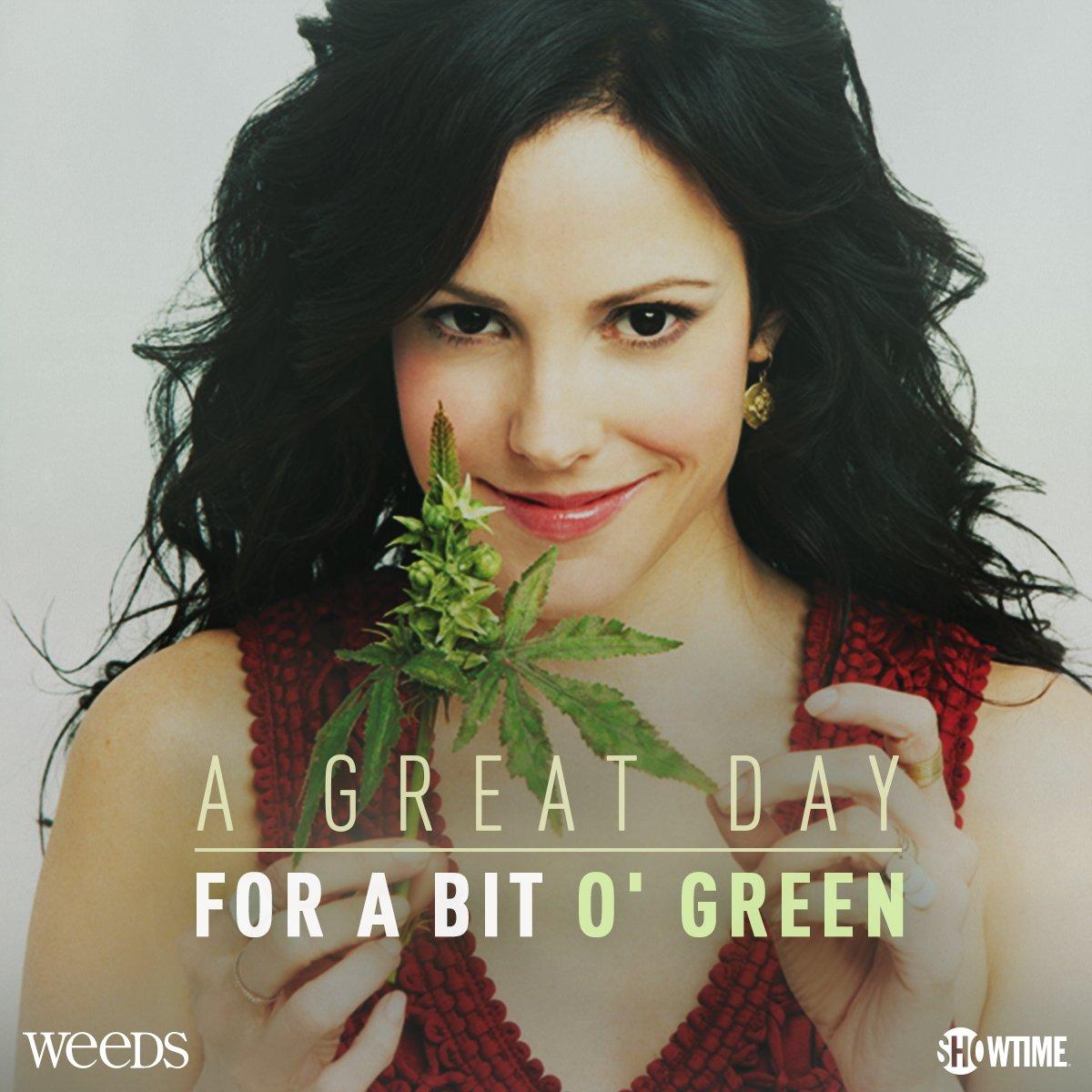 Go green this #StPatricksDay! Stream #Weeds on https://t.co/pvDSrv0YpY. https://t.co/PVztFjfRgP