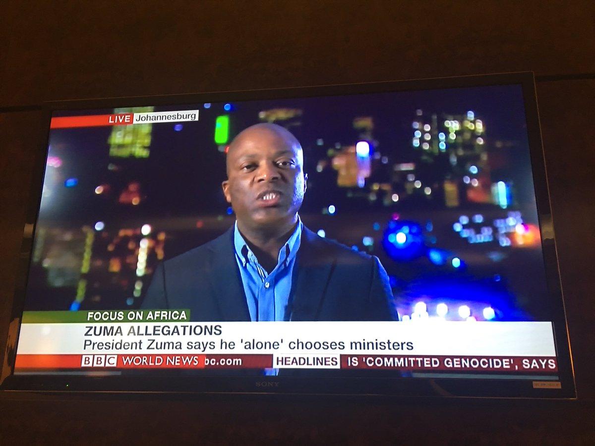 Will #ZumaMustFall happen? @justicemalala on @BBCAfrica saying unlikely: #Zuma controls 83/100 ANC's decision makers https://t.co/F7PRd1DKju