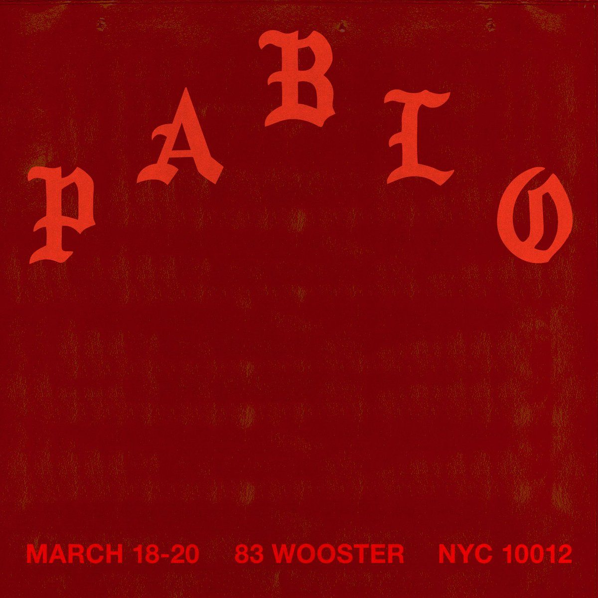 PABLO POP-UP SHOP MARCH 18-20 FRI 4-8 PM SAT SUN 12-8 PM AT 83 WOOSTER IN NYC https://t.co/j1t9Ng5JkO